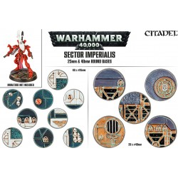 Sector Imperialis: socles ronds de 25 et 40mm