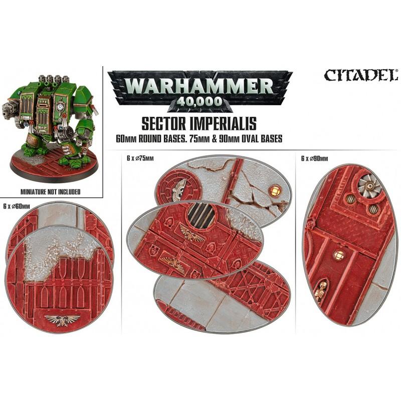 Sector Imperialis: socles ronds de 60mm et socles ovales de 75mm et 90mm
