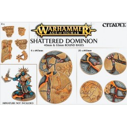 Shattered Dominion: socles ronds de 40 et 65mm