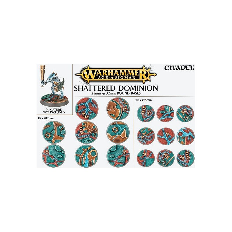 Shattered Dominion: socles ronds de 25 et 32mm