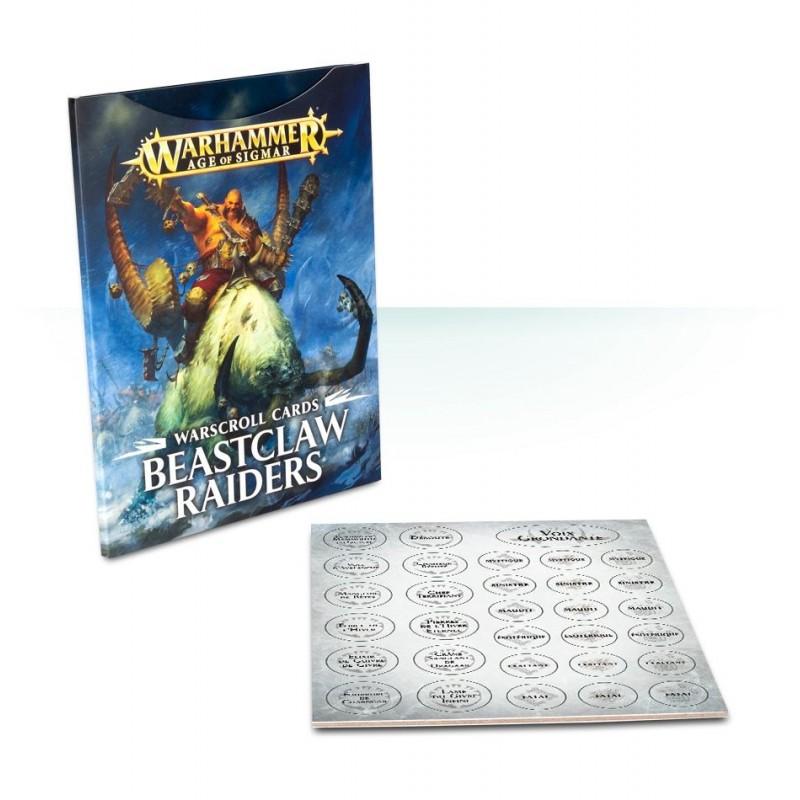 Cartes de Warscroll: Beastclaw Raiders