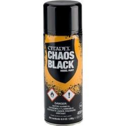 Bombe aérosol de 400ml de peinture noire Chaos Black