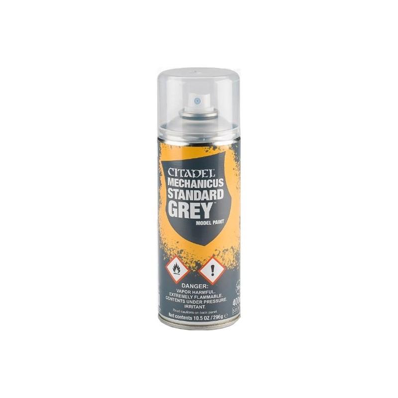 Bombe aérosol de 400ml de peinture Mechanicus Standard Grey