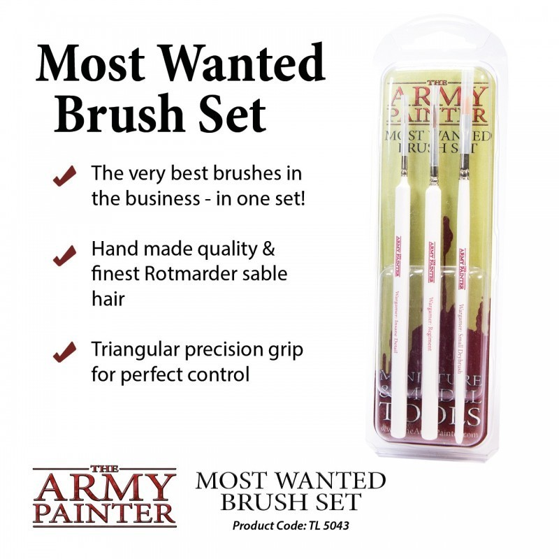 Most Wanted Brush Set - Army Painter