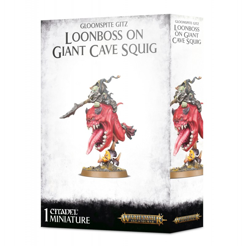Loonboss sur Giant Cave Squig - Gloomspite Gitz