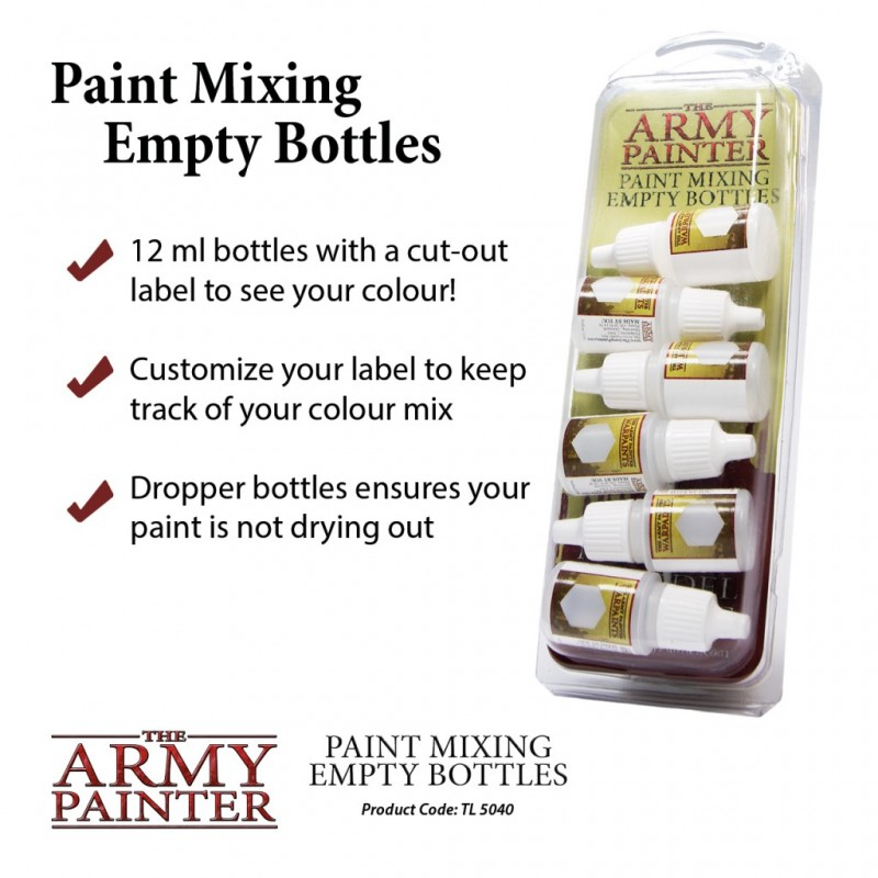 Paint Mixing Empty Bottles - Army Painter